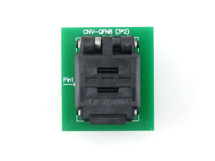 QFN8 à DIP8 adaptateur QFN8 MLF8 MLP8 Plastronics 08QN50T43020 QFN IC adaptateur de programmation Test rodage prise 0.5mm pas - 3