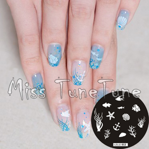 New Stamping Plate Hehe12 Ocean Marine Animal Shell Starfish Nail