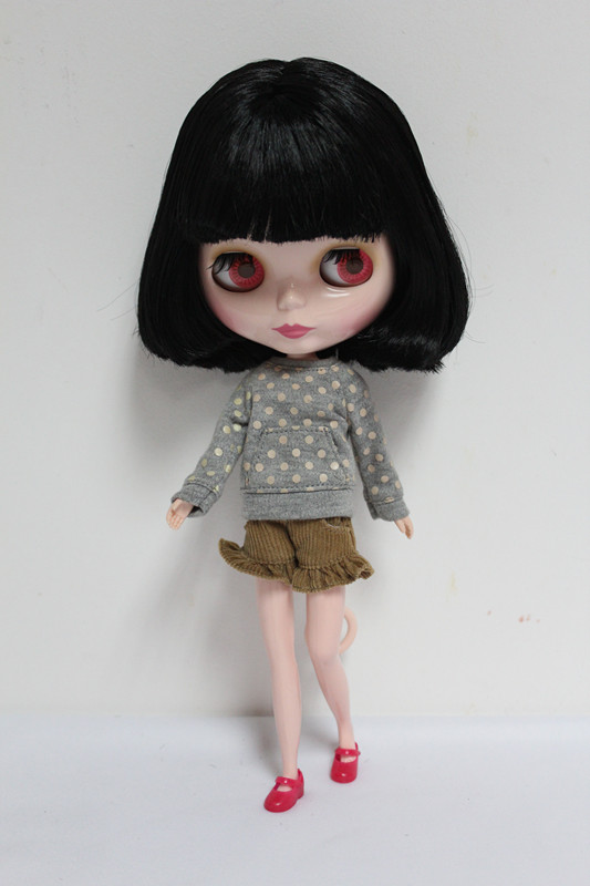 цены Free Shipping Top discount 4 COLORS BIG EYES DIY Nude Blyth Doll item NO. 46 Doll limited gift special price cheap offer toy
