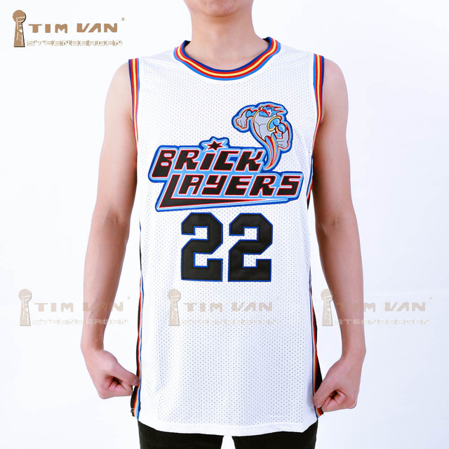 10a5ad7e20e TIM VAN STEENBERGE Lawrence 22 Bricklayers Basketball Jersey Sixth Annual  Rock N' Jock B-Ball Jam 1996-White