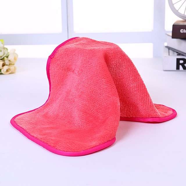 38*21cm Bamboo face towel super dry towel bamboo charcoal cleansing beauty towel Natural antibacterial Pink Red