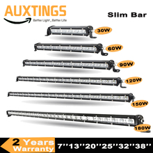 "7"" 13"" 20"" 25"" 32"" 38 Straight Slim LED Light Bar Single Row 60W 90W 120W 150W 180W For SUV 4WD ATV Off Road LED Work Light"