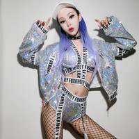 Bar Dj Female Singer Costume Hip Hop Sequins Nightclub Dance Costumes Ds Sexy Stage Performance Costumes Woman Stage Outfit