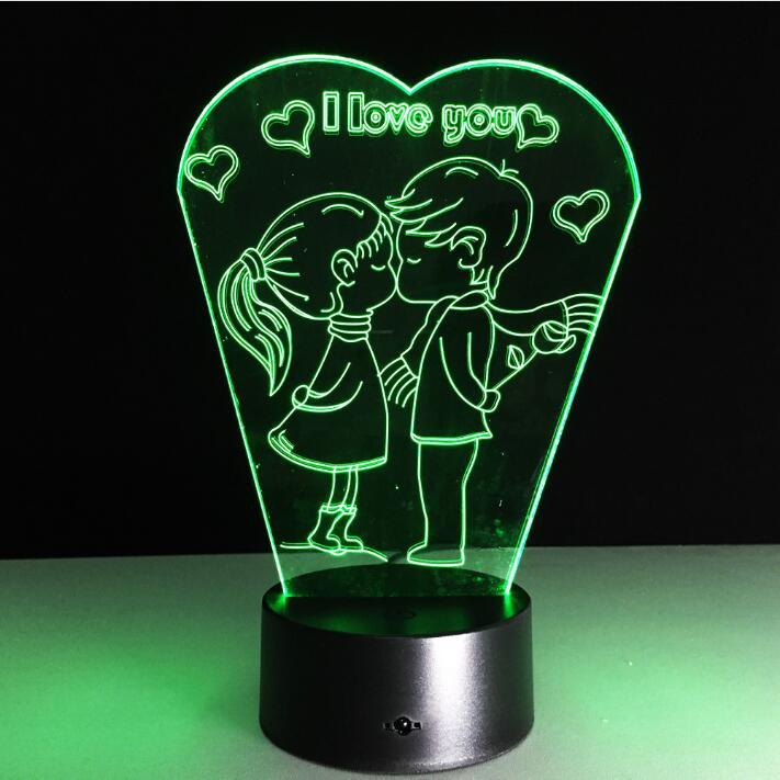 День Святого Валентина подарок I Love You ночник 3D Визуальный Настольный светильник светодиодный прикроватные лампы veilleuse nightlamp окружающей сре...