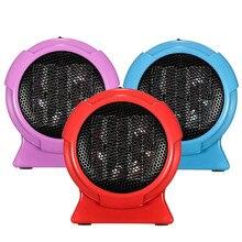 Electric Heaters Mini Personal Ceramic Space Heater Electric Winter Warmer Fan Blue US Plug Electric Heaters