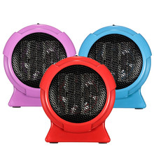 Electric Heaters Mini Personal Ceramic Space Heater Electric Winter Warmer Fan Blue US Plug  Electric Heaters