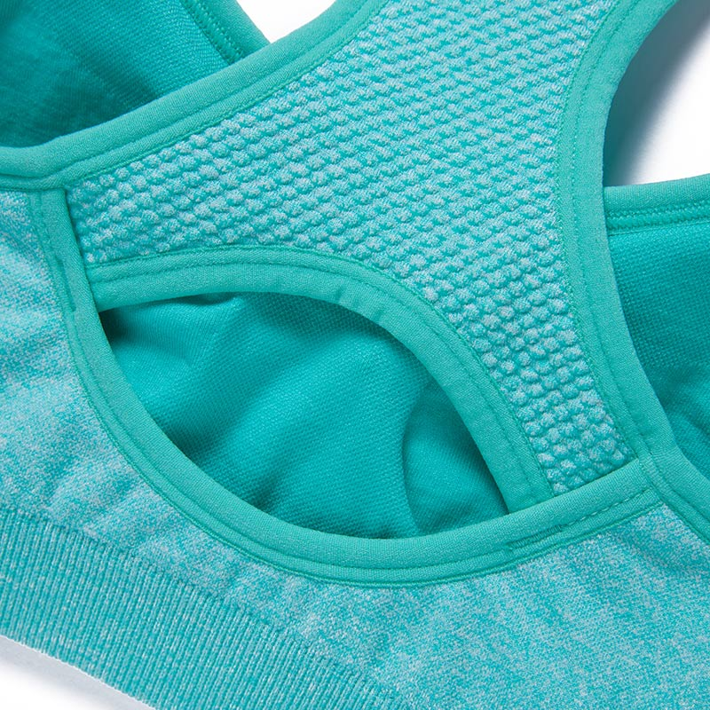 Frauen verstellbarer Schultergurt Shakeproof Sport-BH Volltonfarbe - Sportbekleidung und Accessoires - Foto 6
