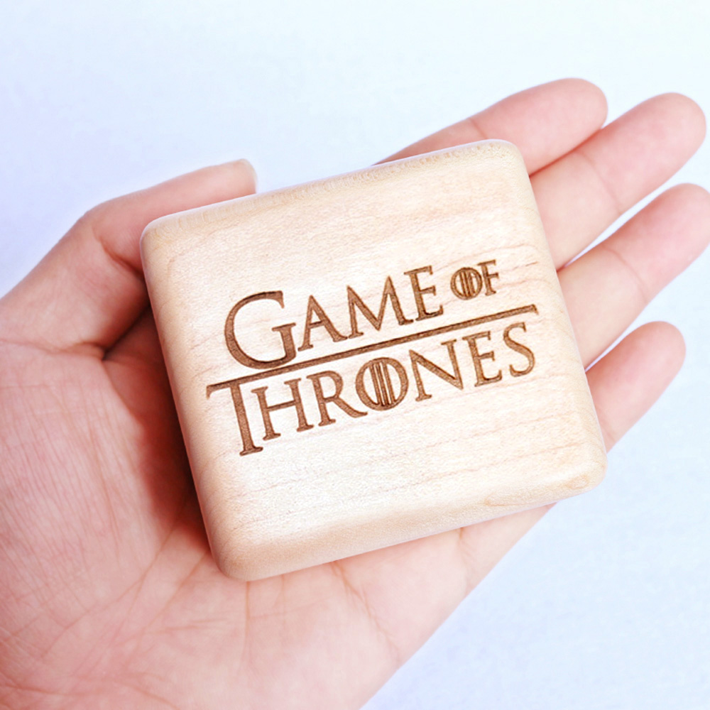 Sinzyo Handmade Wooden Game of Thrones Music Box Wood Carved Mechanism Musical Box special Gift For