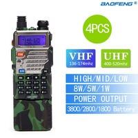 4PCS BaoFeng UV 5RE8W Walkie Talkie VHF UHF136 174Mhz 400 520Mhz Dual Band Two Way CB
