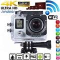 """Andoer 4 k wifi ação camera1080p full hd 16mp à prova d' água 30 m 2.0 """"LCD Sports DV Cam 170 Graus 4X Dupla Tela de Vídeo Camcorder"""