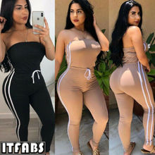 Women Jumpsuit Romper Bodycon Playsuit Strapless Casual Long Trousers Party US Pants