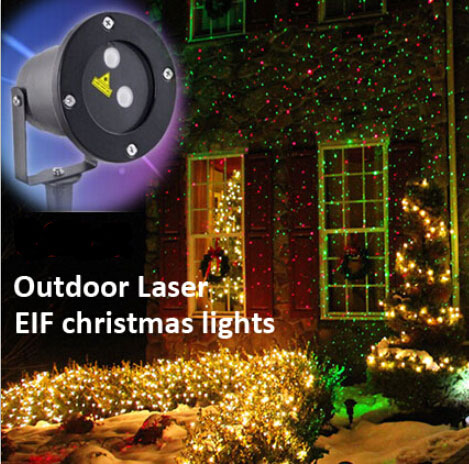 Outdoor waterproof Christmas Lights Green Red Laser Projector ...