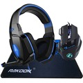 5500 DPI LED Pro Game Gaming Mouse+Stereo Deep Bass LED Light Pro Gaming Headphone Headset+for Big Razer Gaming Mousepad