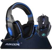 5500 DPI LED Pro Game Gaming Mouse Stereo Deep Bass LED Light Pro Gaming Headphone Headset