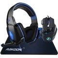 5500 dpi led pro jogo gaming mouse + stereo graves profundos diodo emissor de luz pro gaming headset headphone + para grande razer gaming mousepad
