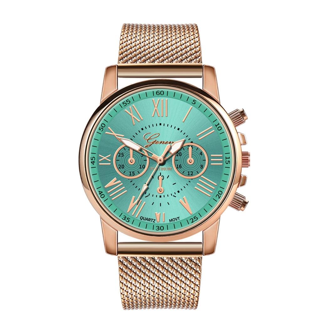 Роскошные Кварцевые часы для женщин и мужчин влюбленные пара Женские наручные часы Миланская нержавеющая сталь циферблат новое поступление - Цвет: E