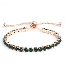 Simple Style Alloy Full Rhinestone Bracelet Adjustable Crystal Chain Bracelet For Women Fashion Jewelry Best Gifts