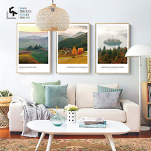 CREATE&RECREATE Nordic Poster Sunrise Sunset Landscape Posters And Prints Wall Canvas Paintings Decoration Pictures CR1810105017