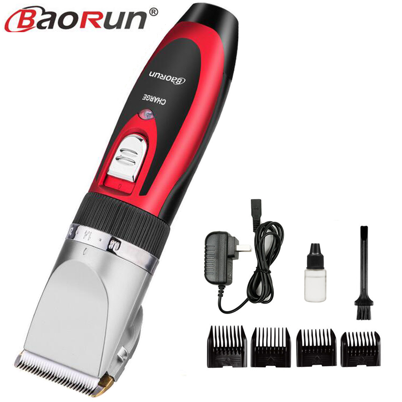 все цены на Professional Clipper Hair Trimmer For Men Electric Cutter Hair Cutting Machine Haircut For Barber Ceramic Blade