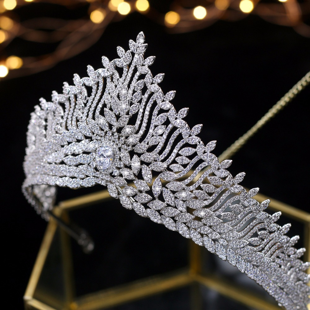 Asnora tiara de boda Wedding Tiaras Bridal Crowns Bride Hair Accessories couronne de mariage