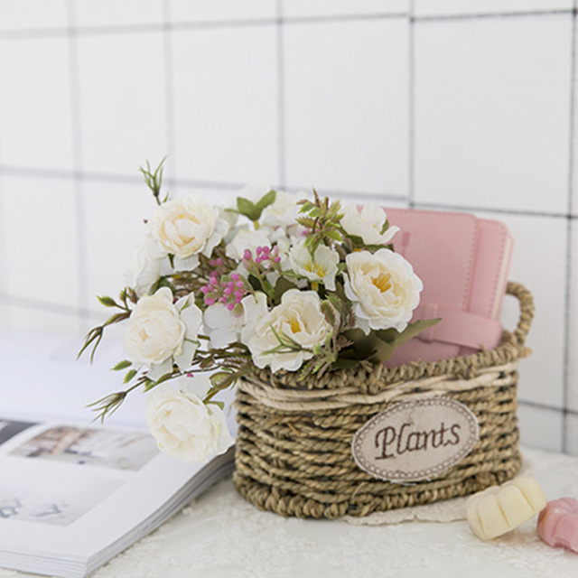 Peony DIY Party Decoration Vintage Silk Artificial Flowers Small Rose Wedding Fake Flowers Festival Supplies Home Decor Bouquet 5