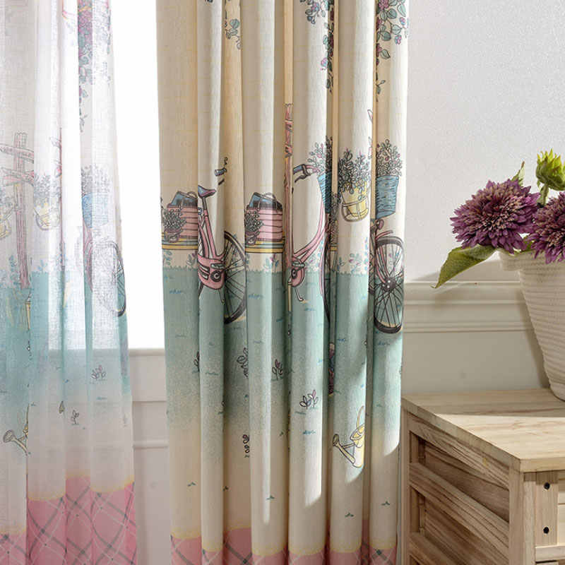 Cartoon Princess Curtains Kid Curtain Fabric Living Room Children Nursery Cortina Window Curtain Drape Baby Girl Bedroom