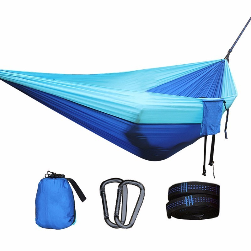 NEW Portable Parachute Hammock Camping Garden Flyknit Hunting Leisure Hamac Travel Double Person Hamak Swing Bed Outdoor Hamac