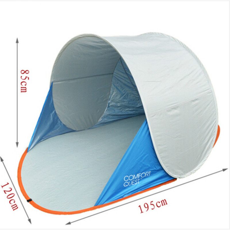 Beach Tents Speed Automatically Open Wild Camping Outdoors A Single Fishing Peng Shade Outing Tourism Uv Protection