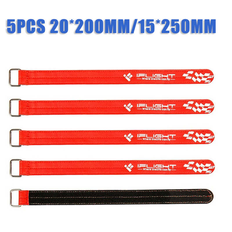 Update 5PCS 20*200mm Zwart/15*250mm Rode iFlight Magic Camera Lipo Battery Strap gesp Voor RC Drone FPV Racing Onderdeel Toebehoren