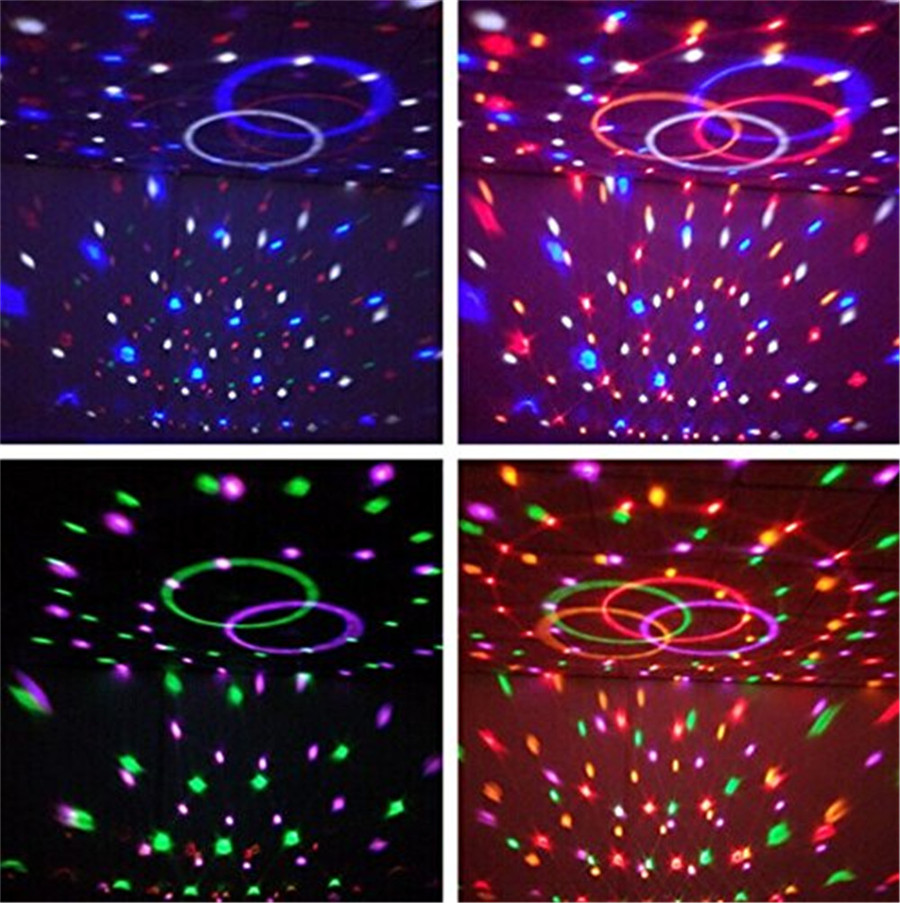 3 W DJ RGB Kleur Veranderen Sound Actived Crystal Magic Mini ...