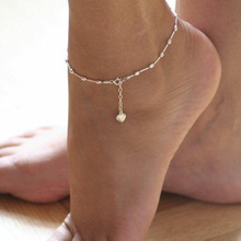 popular fashion heart five-pointed star ankle chain  for women simple beach summer Jewelry AN01