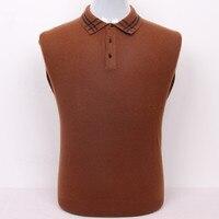 Super Large Size 100 Goat Cashmere Men S Business Leisure Boutique Pullover Sweater Plaid Collar S