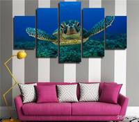 Hd Printed Deep Sea Turtles Painting On Canvas Room Decoration Print Poster Picture Canvas Free Shipping