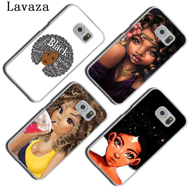 NAIROBI Coque de téléphone Beauté Africaine Afro Puffs Noir Fille Dur Téléphone Shell Cas pour Samsung Galaxy S8 Plus S9 Plus S3 S4 s5 S6 S7 Bord Couverture 4
