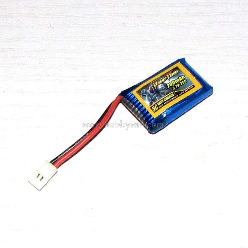 3.7V/<font><b>1S</b></font> <font><b>200mAh</b></font> 25C <font><b>LiPO</b></font> Battery For HISKY FBL180 RC mini helicopter image