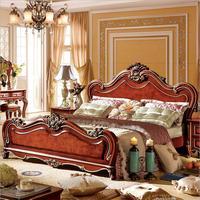 Американская деревянная кровать Европейский классический американский мебель в стиле кантри двуспальная кровать 1,8 м p10299