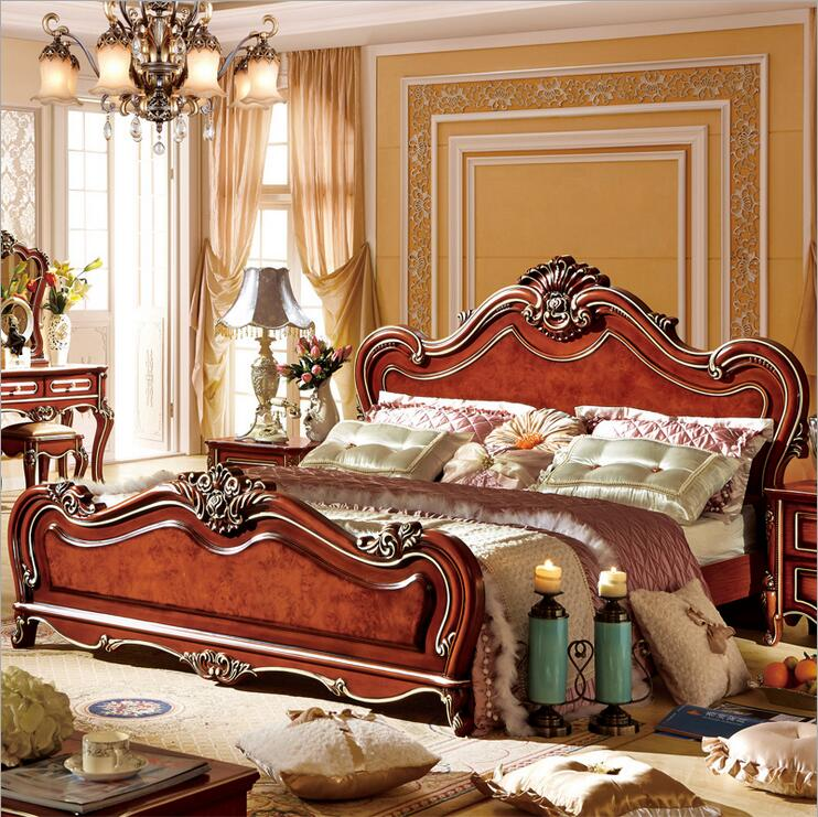American wood  bed bed European classical American country style furniture double bed 1.8 m p10299American wood  bed bed European classical American country style furniture double bed 1.8 m p10299
