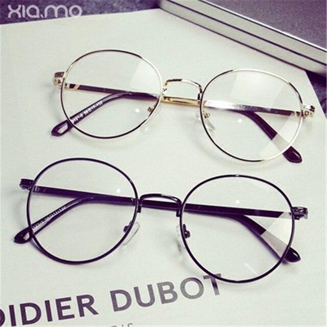 2017 new cheap men\'s eyeglasses Korean version of the retro metal ...
