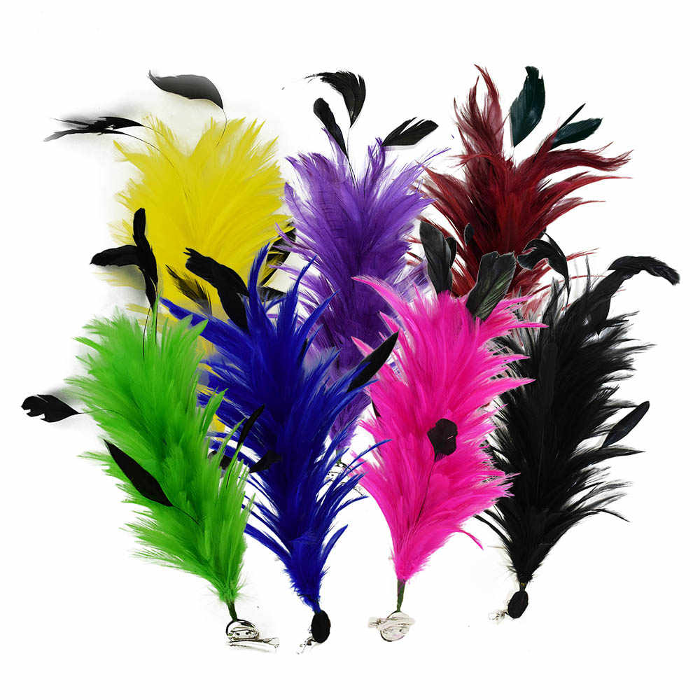 Colorful Dyeing Feathers Indian Headdress Latin Dance Show Hair Decoration Party Wedding Brooch Floral Arrangement Feathers IF71