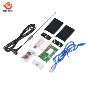 Kit de bricolage récepteur de Radio jambon 100KHz-1.7GHz pleine bande UV HF RTL SDR récepteur de Tuner USB/R820T + 8232 CW FM AM DSB récepteur USB