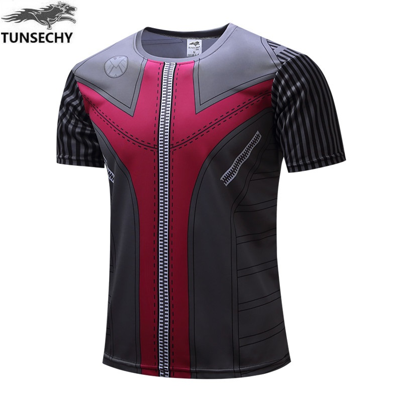 Free shipping the avengers shirts men T-shirt batman and iron man, spider-man and captain America short-sleeved shirt in summer