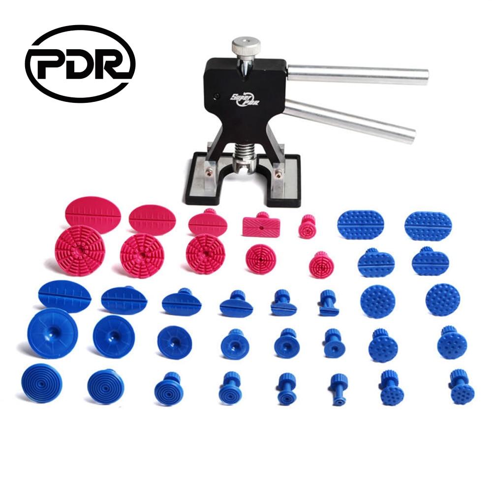 лучшая цена PDR Tools Paintless Dent Removal Kit Car Tools For Auto Repair Body Puller Tool Car Dent Remover Suction Cups Dent Puller Kit