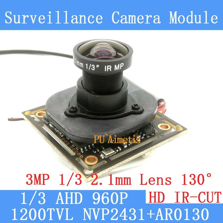 1.3MP 1280 * 960 AHD AR0130 CCTV 960P mini night vision Camera Module 1/3 2.1 Lens 130 degrees surveillance camera 1 3mp ahd 1200tvl mini night vision surveillance camera 1 3 cmos 6mm lens cctv 960p camera module osd cable