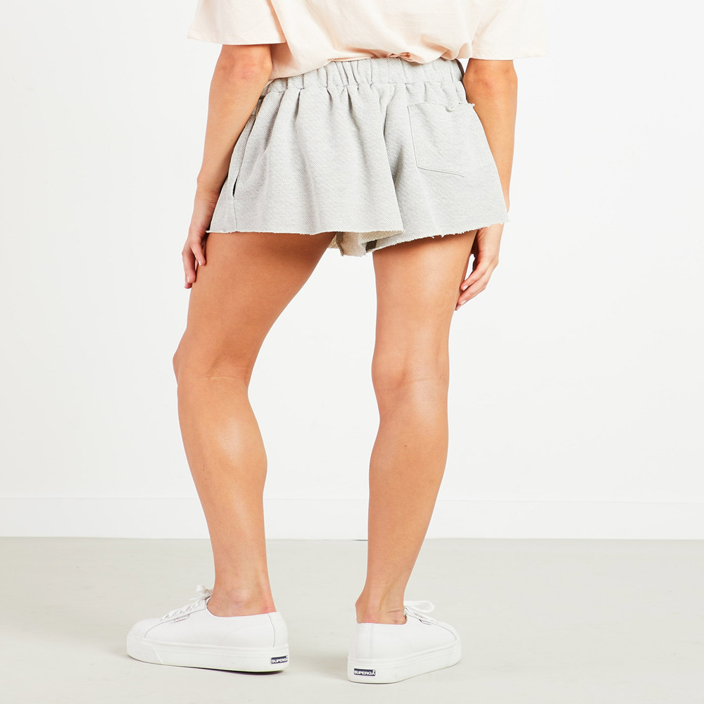 Summer new popular European and American fashion solid color pocket simple high waist wide leg casual women shorts