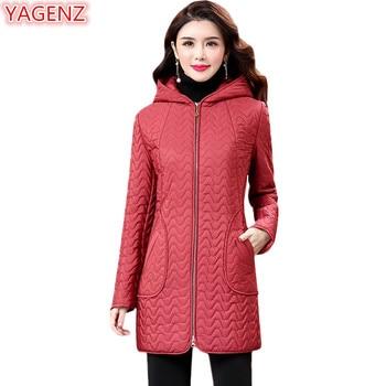 YAGENZ New product Middle-aged Women Parka Coat High quality Winter Jacket Women Large size Fashion Hooded Women Cotton Coat 705