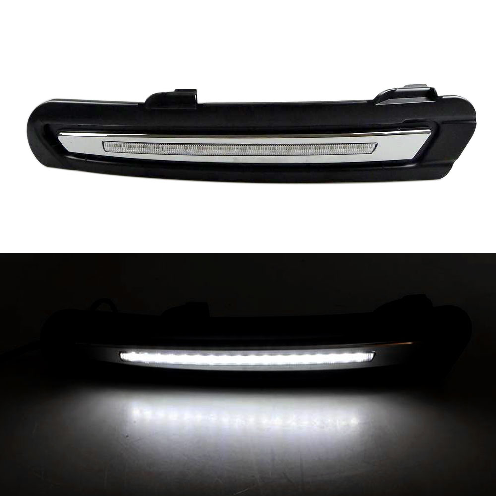 Daytime Running Light DRL for Ford Mondeo 2011 2012 2013 White DRL Left Right Fog Light Cover has Wire 2x led drl driving daytime running day fog lamp light for ford mondeo 2011 2012 2013