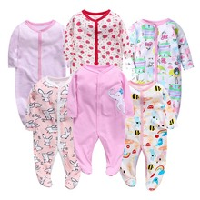 6PCS/LOT Baby Rompers 2019 Long Sleeve 100%Cotton overalls Newborn clothes Roupas de bebe boys girls jumpsuit&clothing