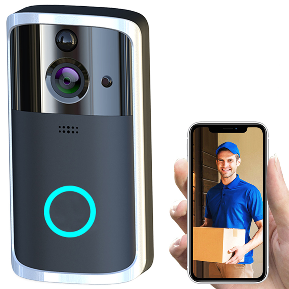 Smart WiFi Video Doorbell Camera Visual Intercom With Chime Night Vision IP Door Bell Video Camera Wireless Home Security Camera