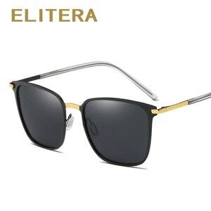 Image 4 - ELITERA Nieuwe Mode Merk Designer Legering Zonnebril Gepolariseerde Spiegel lens Mannelijke oculos zonnebril Eyewear Voor Mannen