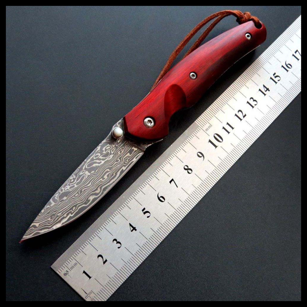 BJL Hot Hand Item Folding Knife Wood Handle Damascus Steel Outdoor Camping Knives EDC Tool Survival Tactical Knives EF82BJL Hot Hand Item Folding Knife Wood Handle Damascus Steel Outdoor Camping Knives EDC Tool Survival Tactical Knives EF82